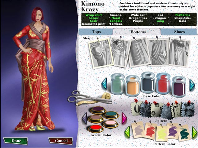 Clothing Designer Free Online Play game Fashion Designer New